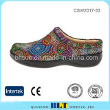 Lederne obere Form Outsole klassische Klotz-Schattenbild-Frauen-Schuhe