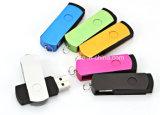 Mecanismo impulsor plástico del flash del USB del eslabón giratorio del metal del disco de la memoria del USB