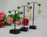 Support acrylique durable d'étalage de boucle d'oreille en métal