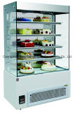 Мрамор основал стеклянный коммерчески охладитель индикации торта с Ce