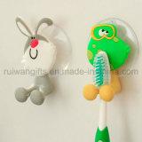 Supports de brosse à dents en plastique en caoutchouc en PVC pour enfants