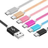 모든 이동 전화를 위한 나일론 땋는 마이크로 컴퓨터 USB 충전기 케이블