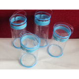 OEM Fashion Clear PVC Cylinder Shaped Zipper Bag