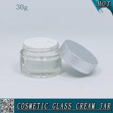 transparentes kosmetisches Sahneglas-Glas des behälter-30ml