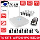 4CH 1080P HD Wireless WiFi Kits de NVR Cámaras IP Bullet