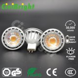 5W MR16 Bombilla LED Foco regulable Lámpara de aluminio Shell LED
