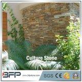 Темный ржавый штабелированный камень культуры уступчика для блокируя плиток каменной стены