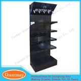 Stand noir de machines-outils d'étalage de panneau de cheville avec l'éclairage LED