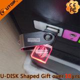 Rotating Crystal USB Pen Drive como presentes promocionais (YT-3270-06)