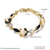 Überzogene Armband-Schmucksachen des Form-Steinfrauen-Armband-18k Gold