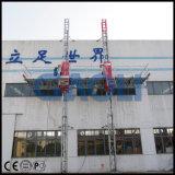 Doble sobre mástil Plataforma de trabajo para el uso de la construcción