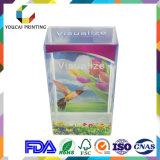 Boîte de présentation en plastique transparente visualisée par fantaisie avec l'impression de couleur