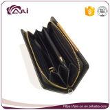 Черный бумажник для женщин, бумажник PU RFID карточки PU материальный Unisex