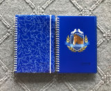 Cuaderno del atascamiento espiral con la cubierta de los PP