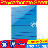 alta qualidade Lago-Azul Polycarbnate de 8mm para a folha da Gêmeo-Parede de Rooflights