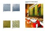 Azulejo de pared de mosaico de acero inoxidable de oro