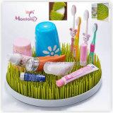 プラスチック円形か正方形のカウンタートップの哺乳瓶の芝生の草乾燥ラック
