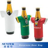 El sostenedor rechoncho del bolso del vino de la sublimación del neopreno puede refrigerador