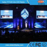 P3 a todo color de LED de alquiler de interior firman con FCC