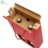 Rectángulo de regalo de encargo del vino con la impresión de la insignia (KG-PX072)