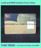 Cartão de identificação de segurança de cores para a empresa