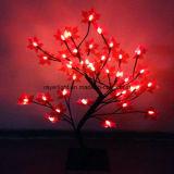 LEDの装飾表の装飾的な薄赤のかえでLEDの木ライト