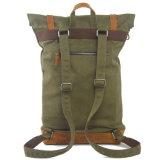 Sacs de sac à dos d'école de mode de toile et de cuir de trois couleurs (RS-104-1)