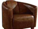 최신 인기 상품 거실 소파 의자 포도 수확 가죽 안락 의자