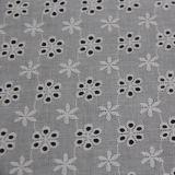 Tissu de lacet de broderie de coton pour des vêtements