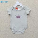 100% Algodão orgânico de algodão Roupas de tela de impressão Bebês Onesie