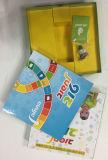 Caixa de presente para crianças com quebra-cabeça e placa de jogo