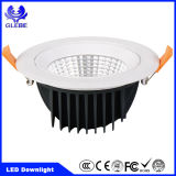 7W COB regulable aluminio blanco Downlight LED blanco cálido/cuadrado redondo