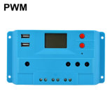 Ce RoHS PWM 10A 20A 12V 24V Cargador Solar de la calle Controller