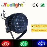 Водонепроницаемый 18ПК*10W полноцветный светодиодный PAR лампа с зумом