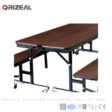 Orizeal складывая передвижную обедая таблицу с ногами обедая таблицы крома