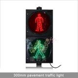 Indicatore luminoso rosso-chiaro del pedone di verde 300mm del segnale stradale del LED