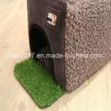 회색 제조자 작은 애완 동물 집 개 고양이 감금소 침대