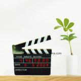 Horloge de cadeau d'affaires d'alarme de calendrier de panneau de clapet de film numérique de DEL