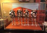 In het groot AcrylDiorama van Star Wars Vitrines