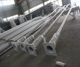 poste solar de la lámpara de los 6m en postes de acero