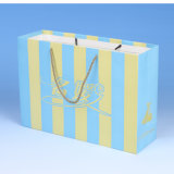 Bolsos de compras impresos personalizados de alta calidad del regalo del papel blanco de la alta calidad con las manijas torcidas
