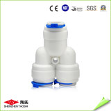 Certificados plásticos de las instalaciones de tuberías de la te de la cuerda de rosca masculina de 1/4 pulgada