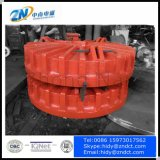 ローディングの鋼鉄のためのコントロール・パネルが付いている16トンクレーンのための鋳造物ボディ持ち上がる磁石はCmwを捨てる