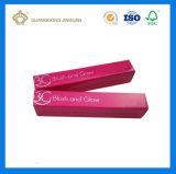 Rectángulo de empaquetado cosmético de la impresión a todo color barata del plegamiento para la loción de la cara (con la hoja caliente de la insignia de plata)
