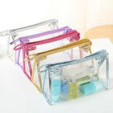 Premier sac de couture transparent de PVC de tirette recyclable pour des produits de beauté