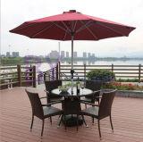 Jogos ao ar livre do lazer três ou cinco do café do pátio do balcão de tabelas e de cadeiras do Rattan do PE