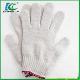 Gants industriels de 7/10 de mesure fil de coton, gant tricoté