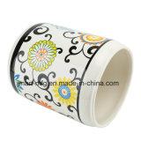 Insieme di ceramica della stanza da bagno della decalcomania del fiore per gli insiemi domestici moderni dell'elettrodomestico