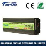 Inversor da potência solar da alta freqüência 12V 220V 2000W com carregador de bateria & UPS