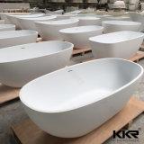 Superfície sólida Oval Sanitaryware Stone uma pessoa de banho de hidromassagem